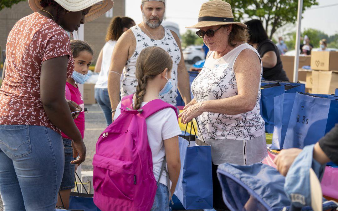 Retour à l'école ‒ Édition 2021 : 800 enfants aidés en une journée!